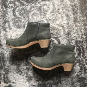 Dansko Olive Green Maria Ankle Boots